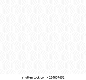 Seamless subtle gray hexagons with stripes pattern