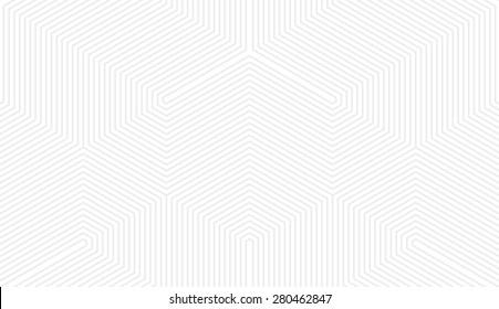Seamless subtle gray vintage trilateral op art lines pattern