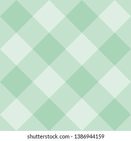 Seamless sweet mint green background - checkered pattern or grid texture for web design ,desktop wallpaper or culinary blog website