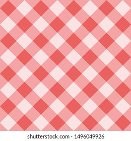 Seamless sweet pink background - checkered pattern or grid texture for web design, desktop wallpaper or culinary blog website