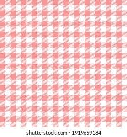 Seamless tartan pattern checkered background. pink white lumberjack plaid print.