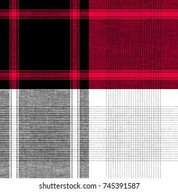 Seamless tartan plaid pattern Traditional checkered fabric texture