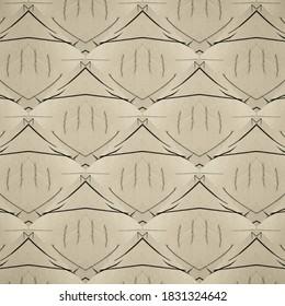 Seamless Template. Gray Tan Pattern. Gray Soft Sketch. Black Simple Brush. Elegant Paint. Black Drawn Scratch. Line Vintage Paper. Sepia Background. Ink Sketch Texture. Geometric Print Drawing.