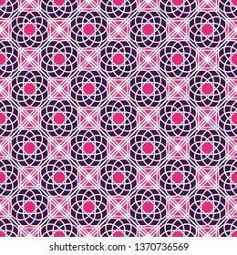 Seamless texture with arabic geometric ornament. Mosaic pattern