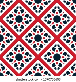 Seamless texture with colorful oriental geometric ornament. Mosaic pattern with rhombus elements and stripes