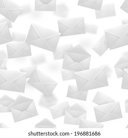Seamless texture of open and closed falling envelopes.