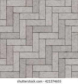 Seamless texture of paving stones. Gray tile background.