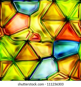 Seamless Texture stained-glass window