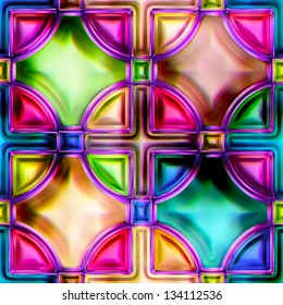 Seamless texture stained-glass window (See more seamless backgrounds in my portfolio)