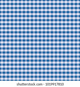 Seamless texture white fabric in blue cage, background for design