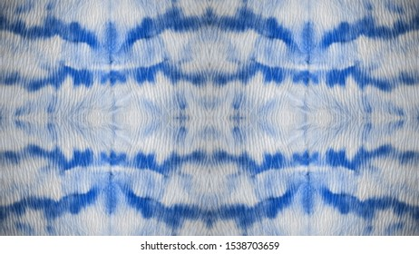 Seamless Tie Dye Wallpaper. African Threadbare textile. Azure and Light Smudges. Black Tones. Watercolor Colorful Ethnic Dyed. Traditional Dyed Rug Decor. Endless Ornament.