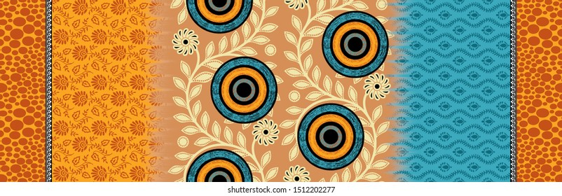 Seamless Traditional background Wallpaper Pattern