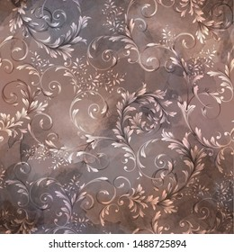 seamless traditional baroque pattern with texture. classic pattern for textile design and fabrics