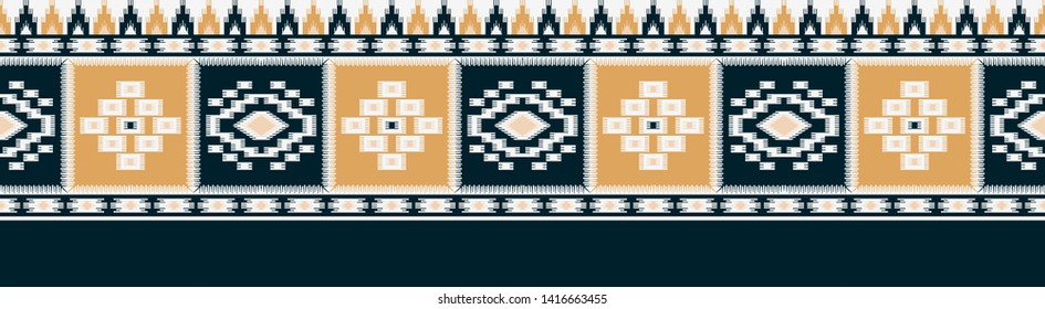 seamless traditional border design background