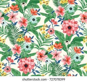 Seamless Trendy Tropical Pattern