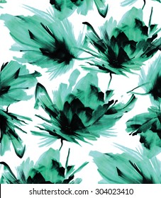 Seamless Tropical Flowers Pattern for Textile Print for printed fabric design and Womenswear, kidswear and menswear and Decorative Home Design Print and Wallpaper Print