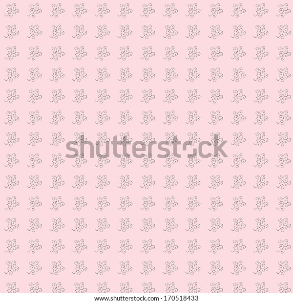 Seamless unique ornamental pattern with pink background