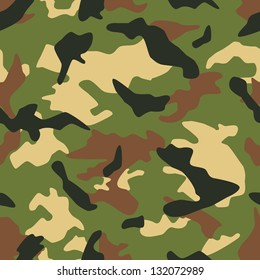 Seamless vector square camouflage series in the military scheme