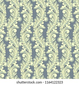 Seamless vintage baroque pattern.