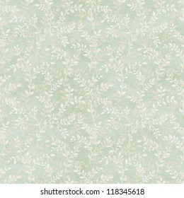 Seamless vintage floral pattern on paper texture. Vintage wallpaper