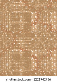 Seamless vintage pattern with an effect of attrition. Patchwork pattern