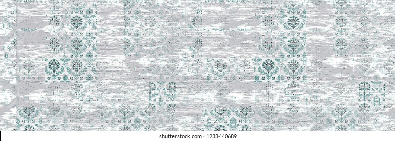 Seamless vintage pattern with an effect of attrition. Can be used on packaging paper, fabric, background for different images, etc.