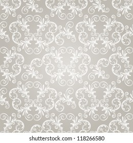 seamless vintage wallpaper pattern on gradient background