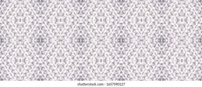 Seamless Volume Thread Style. Native Winter Ornament. Light New Year Wallpaper. Coarse Knitting Style Creative Pattern. Comfortable Scandinavian Knitted Pattern.