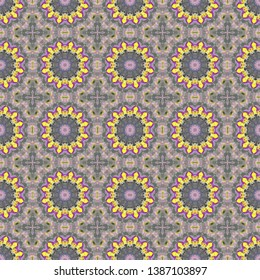 seamless wallpaper pattern with gray gray, dark slate gray and gold colors. can be used for cards, posters, banner or texture fasion design.