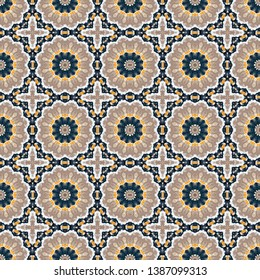 seamless wallpaper pattern with rosy brown, dark slate gray and linen colors. can be used for cards, posters, banner or texture fasion design.