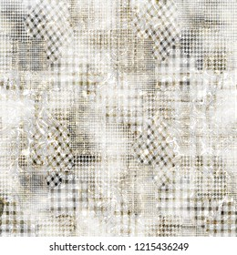seamless watercolor abstract digital checks and  paisley pattern