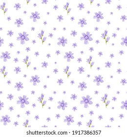Seamless watercolor pattern on white background for wrappers, wallpaper, postcards, greeting cards, invitations, holiday events, bed linen, clothing and other