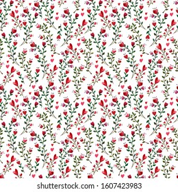 Seamless watercolor pattern to Saint Valentine's Day perfect for packaging and textile