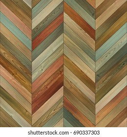 Seamless wood parquet texture (chevron clip-art)