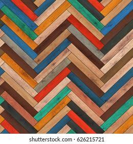 Seamless wood parquet texture (herringbone clipart)