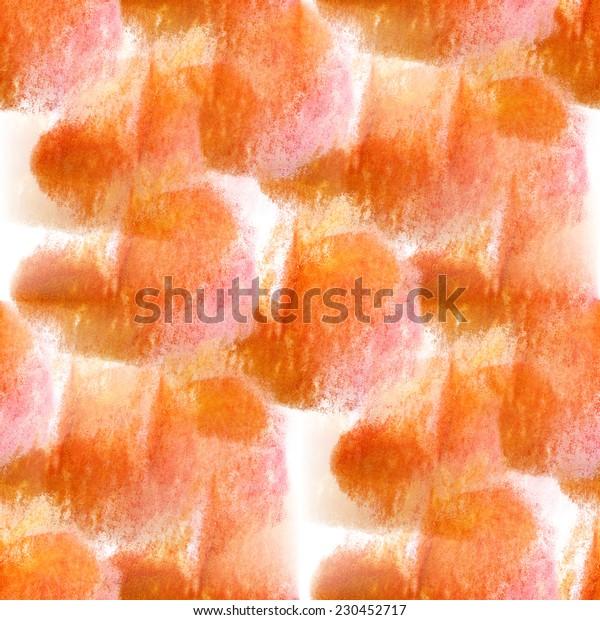 seamless yellow orange pattern background wallpaper handmade watercolor