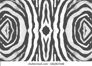 Seamless Zebra Lines. Abstract Safari Banner. Watercolor Wild Print. Gray Cheetah Background. Black Zebra Stripes. Abstract Safari Texture. Watercolor Jungle Print. Seamless Zebra Pattern.