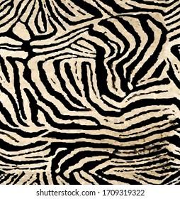Seamless zebra pattern, african animal print