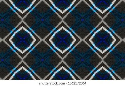 Seamless Zigzag Ikat Print. Ogee Ornament. Handdrawn Aquarelle Fabric Print. Traditional Ethnic Zigzag Background. Watercolor Zigzag Ikat Pattern.