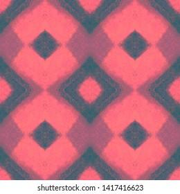 Seamless Zigzag Ikat Print. Tie Dye Style. Blue Geometric Texture. Watercolor Zigzag Ikat Pattern. Traditional Ethnic Zigzag Wallpaper. Ink Painted Shibori Rug.