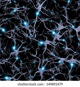 Seamlessly Repeatable Brain Cells Pattern