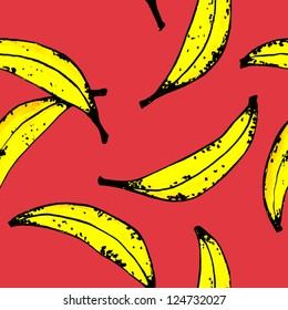 SEAMLLES BANANA PATTERN red