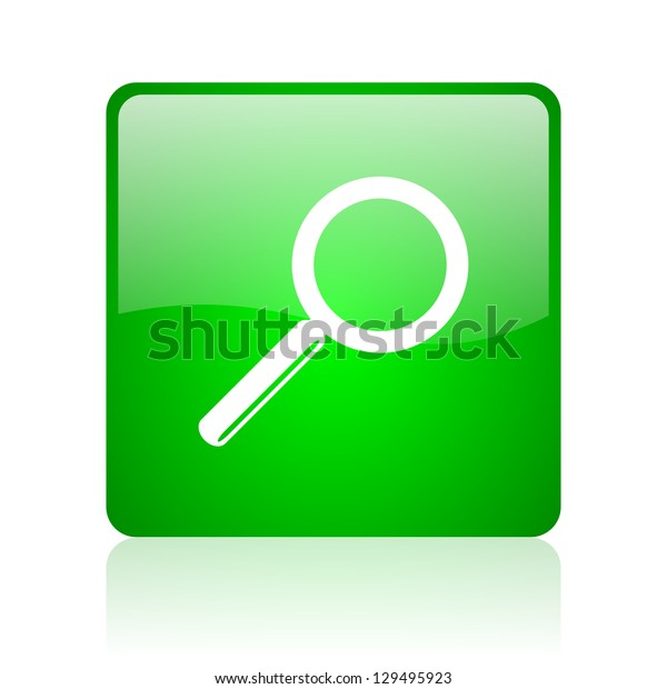 search green square web icon on white background