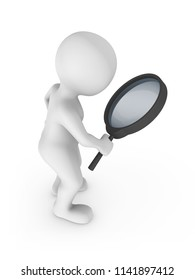 Search with magnifying glass. 3d rendered illustration.