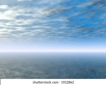 Seascape view with tropical waters.