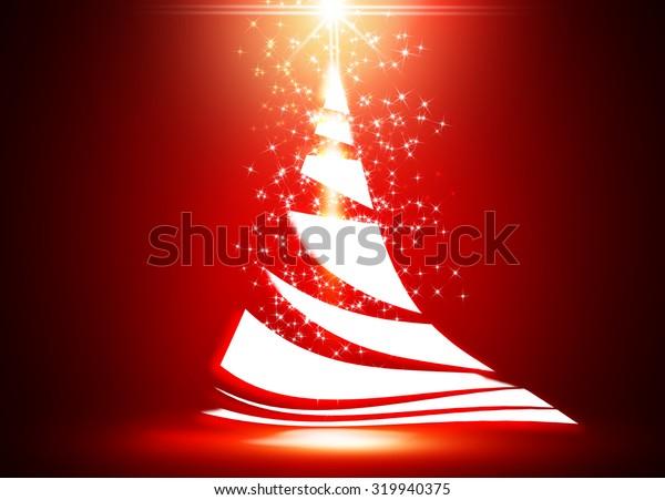 Seasonal greetings with Christmas tree background