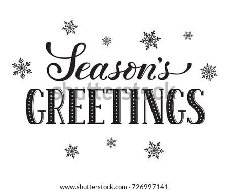 seasons greetings postcard template modern new stock illustration