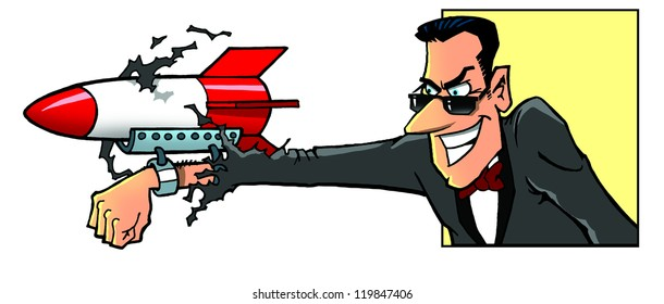 Secret agent an his weapon