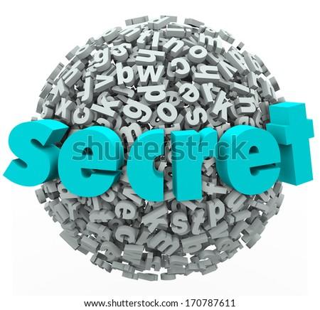 Secret Word On Ball Sphere 3 D Stock Illustration 170787611 ...