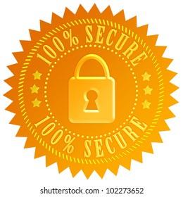 Secure lock emblem